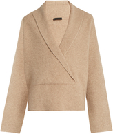 The Row Fontaine V-neck cashmere-blend sweater