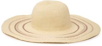 Nordstrom Rack Metallic Stripe Floppy Hat