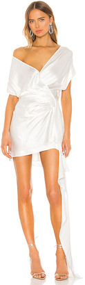 Mason by Michelle Mason x REVOLVE Wide Neck Wrap Mini Dress