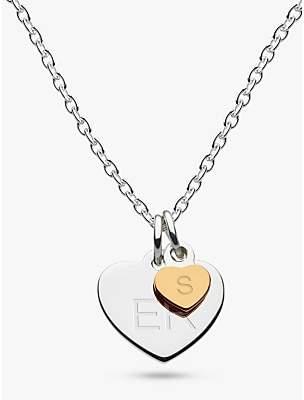Kit Heath Personalised Girls Double Heart Pendant Necklace