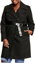 City Chic Longline Belted Coat