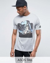 Asos TALL Star Wars T-Shirt With Vintage Art And Sleeve Print