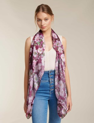 Forever New Becca Floral Print Scarf - Berry Multi - 00