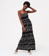LOFT Beach Criss Cross Strapless Maxi Dress