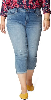 NYDJ Chloe Raw Hem Capri Jeans