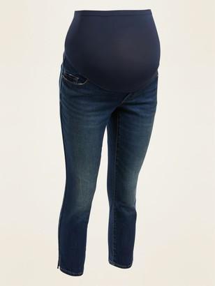 Old Navy Maternity Full-Panel Rockstar Super Skinny Capri Jeans