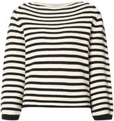 Vince knitted Breton sweater - women - Cotton/Polyamide - XS