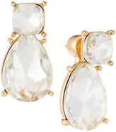 Kenneth Jay Lane Golden Crystal Jacket Stud Earrings