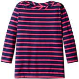 Scout + Ro Big Girls' Striped Three-Quarter Sleeve Boat-Neck Tunic Top