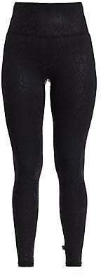 Terez Women's Snakeskin Foil-Print High-Rise Leggings