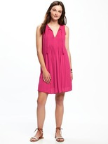 Old Navy Sleeveless Pintuck Swing Dress for Women