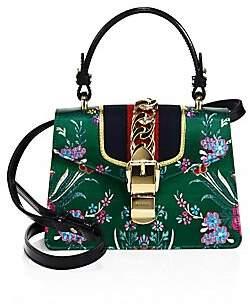 Gucci Women's Mini Sylvie Floral Jacquard Top Handle Bag