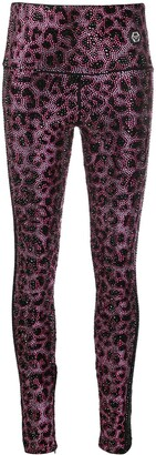 Philipp Plein Pink Paradise crystal-embellished leggings
