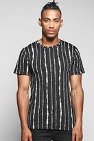 Boohoo Stripe Print T Shirt