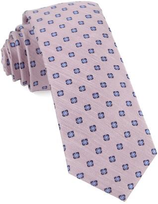 Tie Bar Medallion Scene Baby Pink Tie