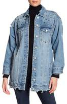 Blank NYC BLANKNYC Long Line Studded Denim Jacket