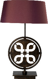 Blackbird Bespoke - Handcrafted Crib Table Lamp In Bronze Finish - Brown