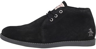 Original Penguin Mens Lawyer Suede Boots Black