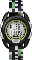Timex Children's Quartz Watch with LCD Dial Digital Display and Multicolour Nylon Strap TW7C13000