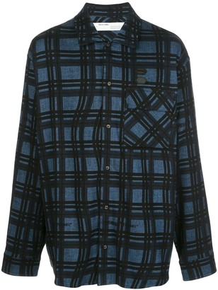 Off-White Arrows flannel checked shirt
