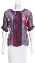 Jason Wu Silk Abstract Print Top