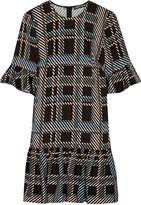 Markus Lupfer Plaid stretch-crepe dress