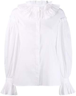 Just Cavalli ruffle collar shirt