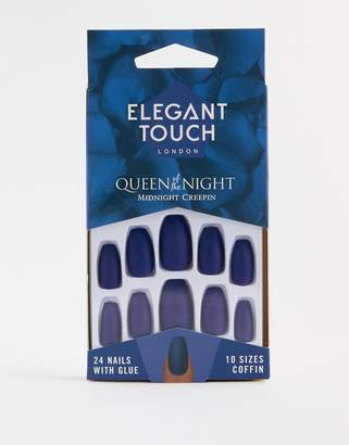 Elegant Touch Queen of the Night False Nails - Midnight Creepin-Multi