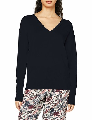 Scotch & Soda Women's Merino Woollen Pullover in V Neck Sweater