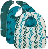 Kickee Pants Bib Set Dolphin - Lagoon Hammerhead/Natural Seaweed