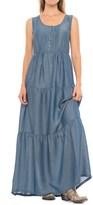 Wrangler Tiered Chambray Maxi Dress - Sleeveless (For Women)
