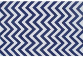 The Well Appointed House Childs Chevron Hook Rug in Blue