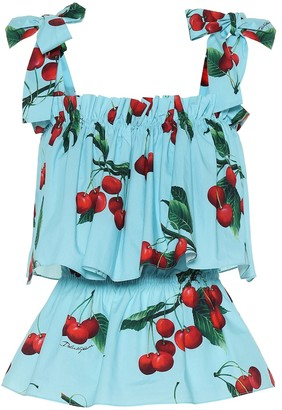 Dolce & Gabbana Exclusive to Mytheresa a Cherry printed cotton top
