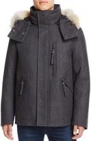 Andrew Marc Fremont Fur Trim Hooded Coat