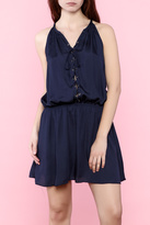 Do & Be Navy Lace-Up Dress
