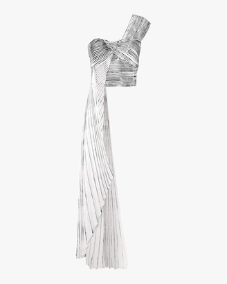 Semsem Pleated Hand-Painted Bustier