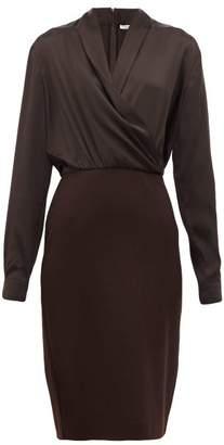 Max Mara Trento Dress - Womens - Dark Brown