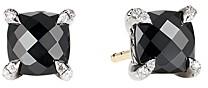 David Yurman Chatelaine Stud Earrings with Black Onyx and Diamonds