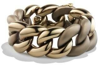 David Yurman Belmont® Curb Link Bracelet In Titanium With An Accent