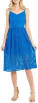 Kensie Open-Mesh-Lace Midi Dress
