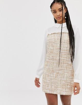 Amy Lynn long sleeve contrast shirt dress