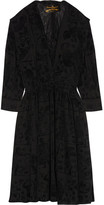 Vivienne Westwood Harima Flocked Crepe Dress - Black