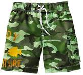 Gap Camo graphic swim trunks