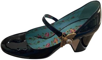 Gucci Sylvie Black Leather Heels