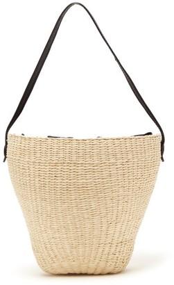 Sensi Woven Toquilla Straw Basket Bag - Cream