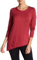 Trina Turk Asymmetrical Long Sleeve Tee