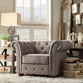 Radcliffe HomeSullivan Grey Linen Arm Chair