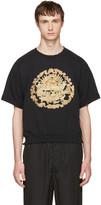 SASQUATCHfabrix. Black Distressed Graphic Sweatshirt