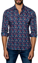 Jared Lang Cotton Heart Print Sportshirt