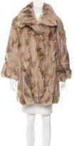 Adrienne Landau Collared Rabbit Coat